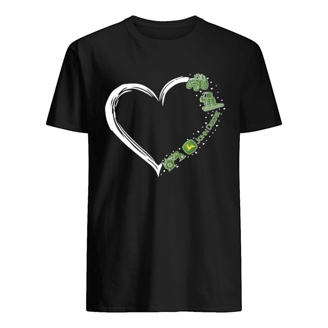 Love john deere logo hearts  Classic Men's T-shirt