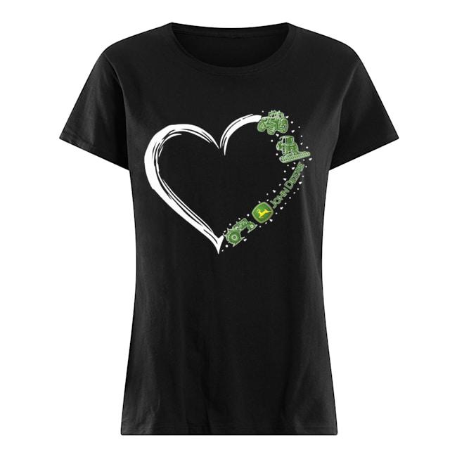 Love john deere logo hearts  Classic Women's T-shirt