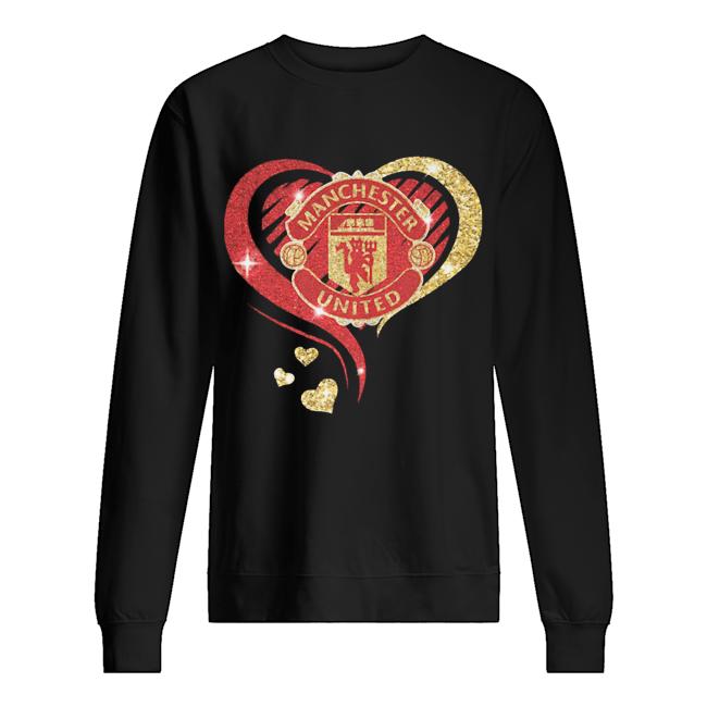 Love manchester united hearts diamond  Unisex Sweatshirt