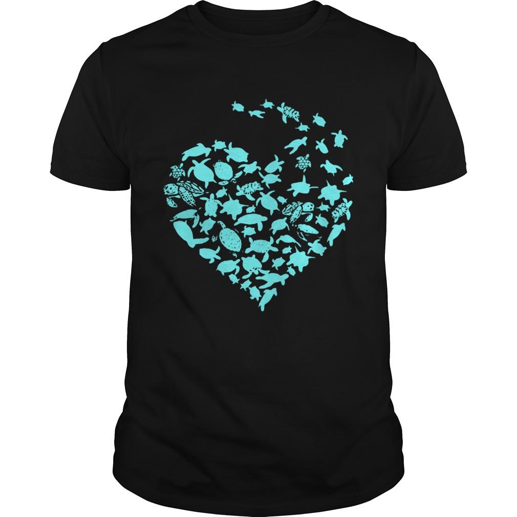 Love Sea Turtles Heart  Unisex