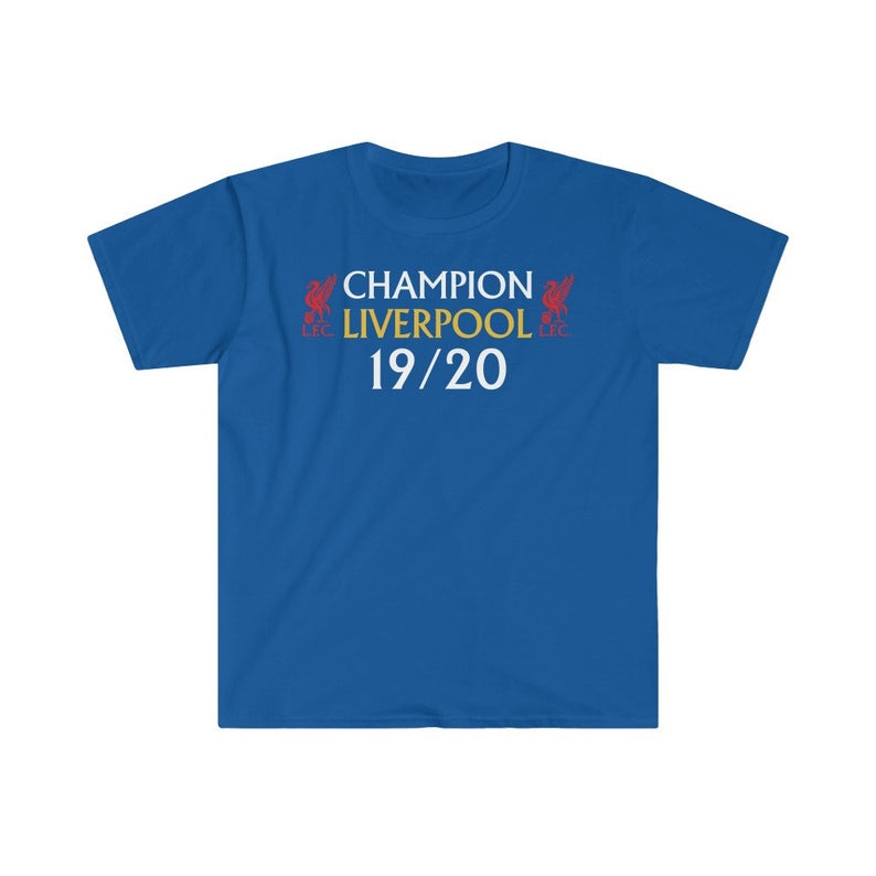 Liverpool Shirt , Premier League Winners 2019/20 Champions Tee