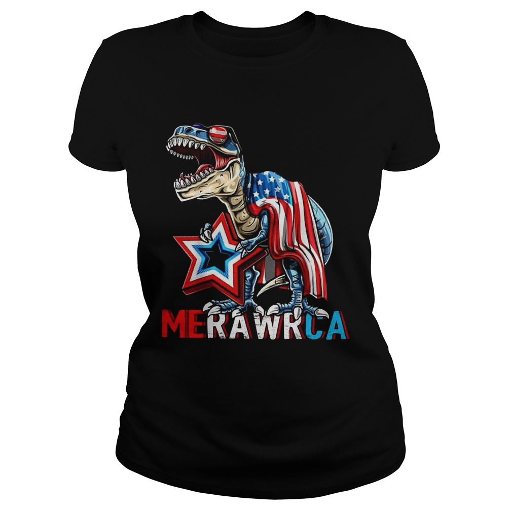 Merica Trex Dinosaur 4th Of July American Flag  Classic Ladies