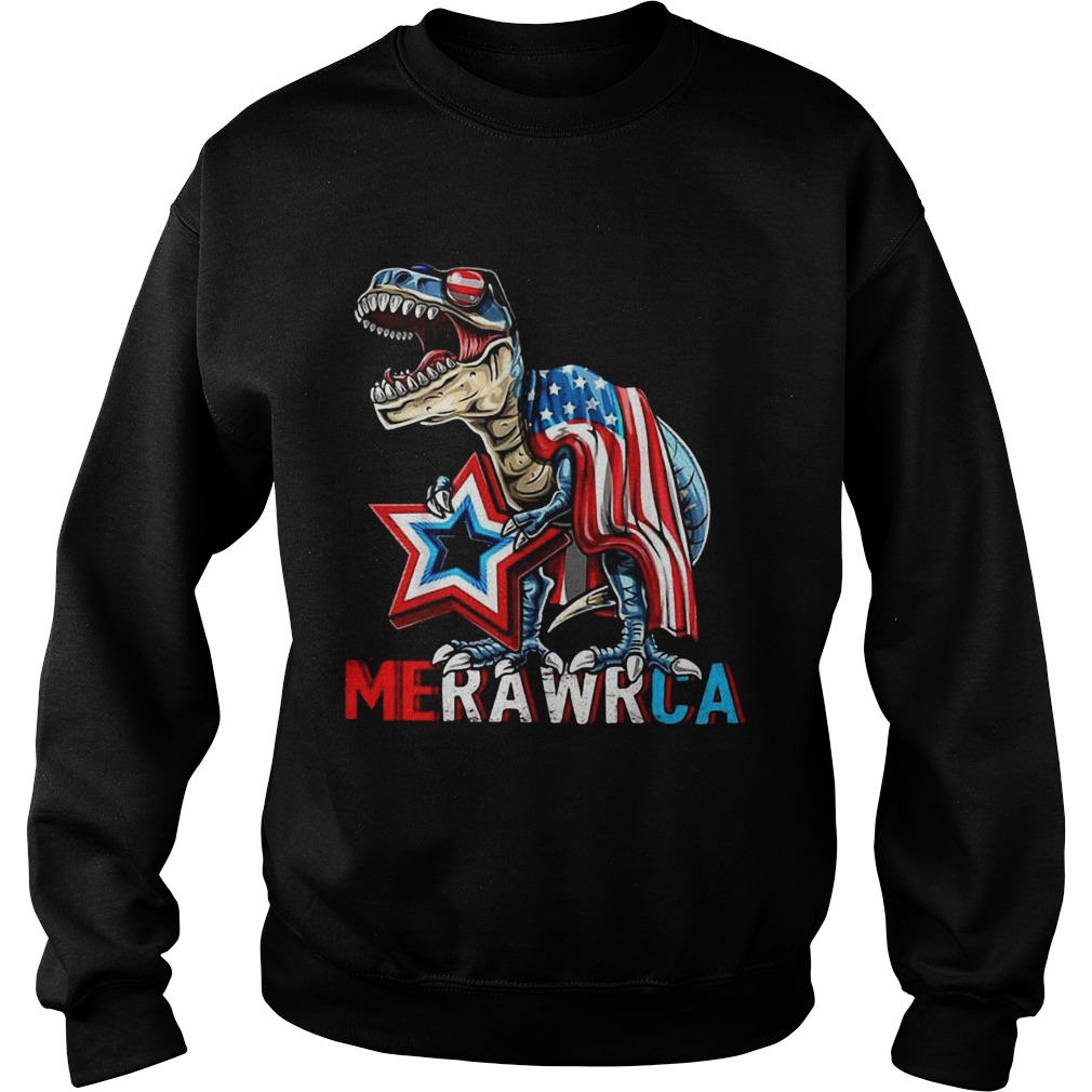Merica Trex Dinosaur 4th Of July American Flag  Sweatshirt
