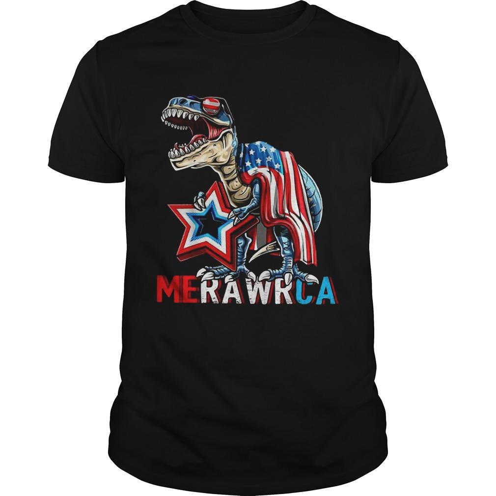 Merica Trex Dinosaur 4th Of July American Flag  Unisex