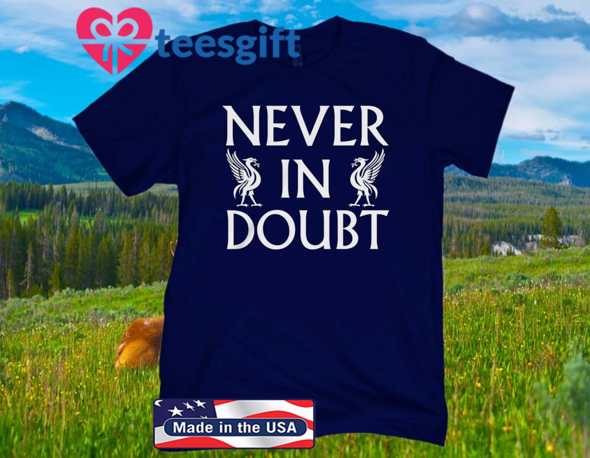 NEVER IN DOUBT CHAMPIONS 2020 T-SHIRT Liverpool 2020
