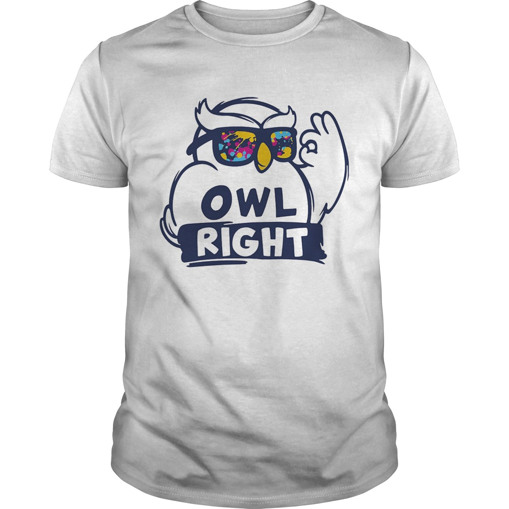 Owl right colors water  Unisex