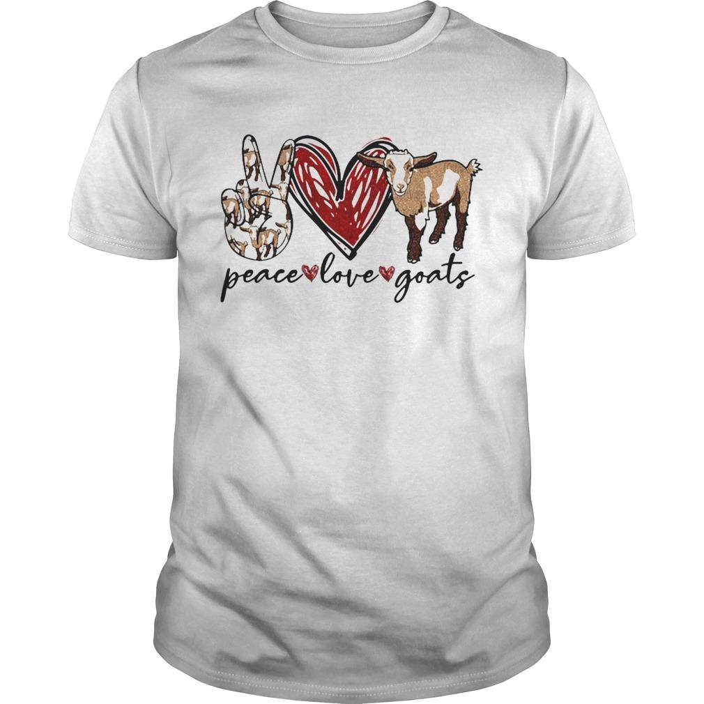Peace Love Goats  Unisex