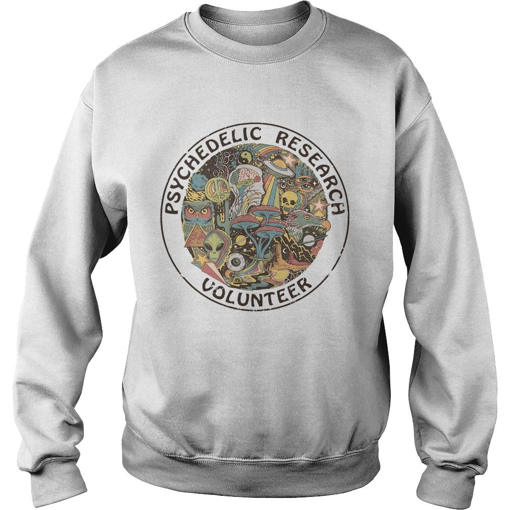 Psychedelic Research Volunteer Ringer  Sweatshirt
