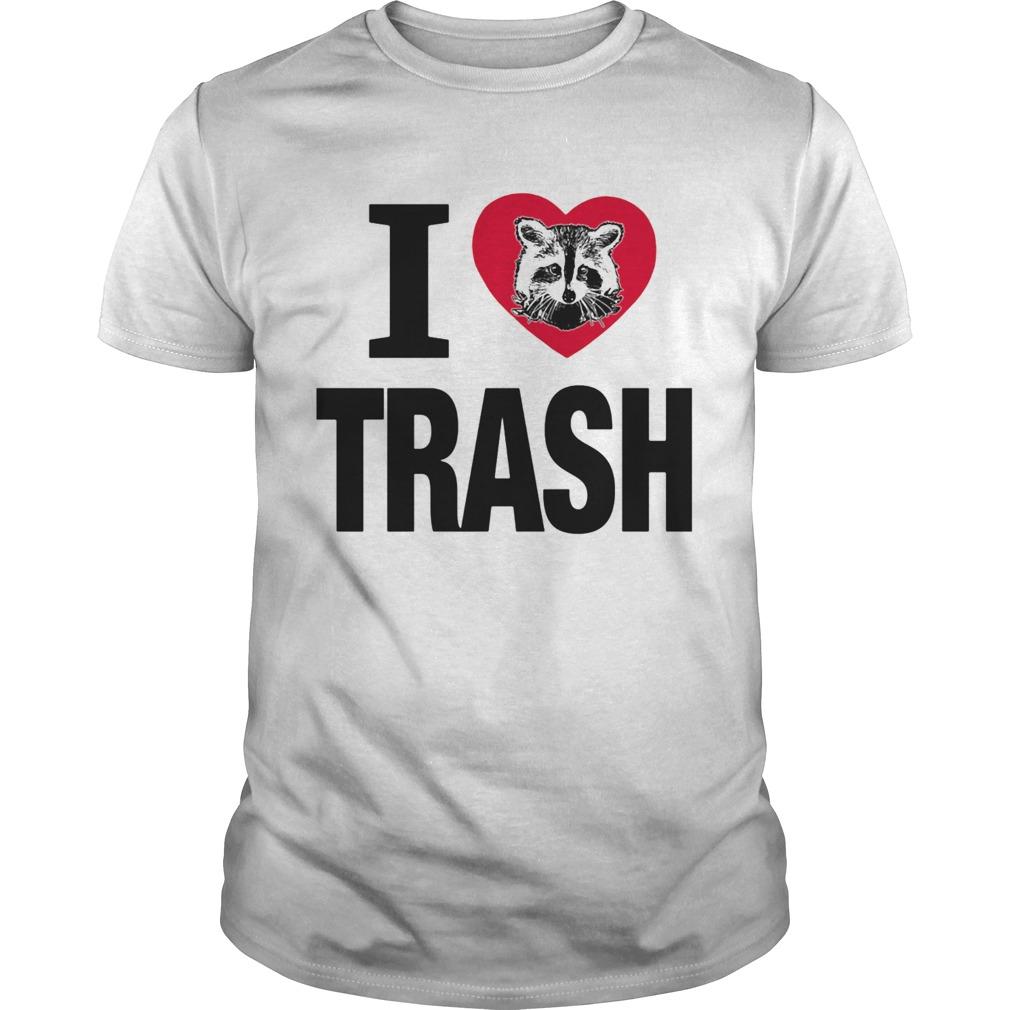 Raccoon i love trash heart  Unisex