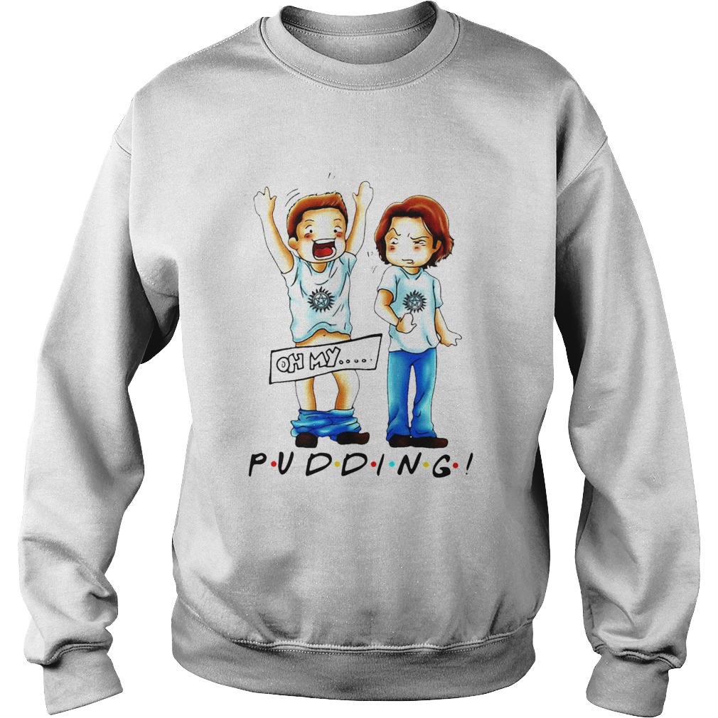 Sam And Dean Winchester On My Pudding  Sweatshirt