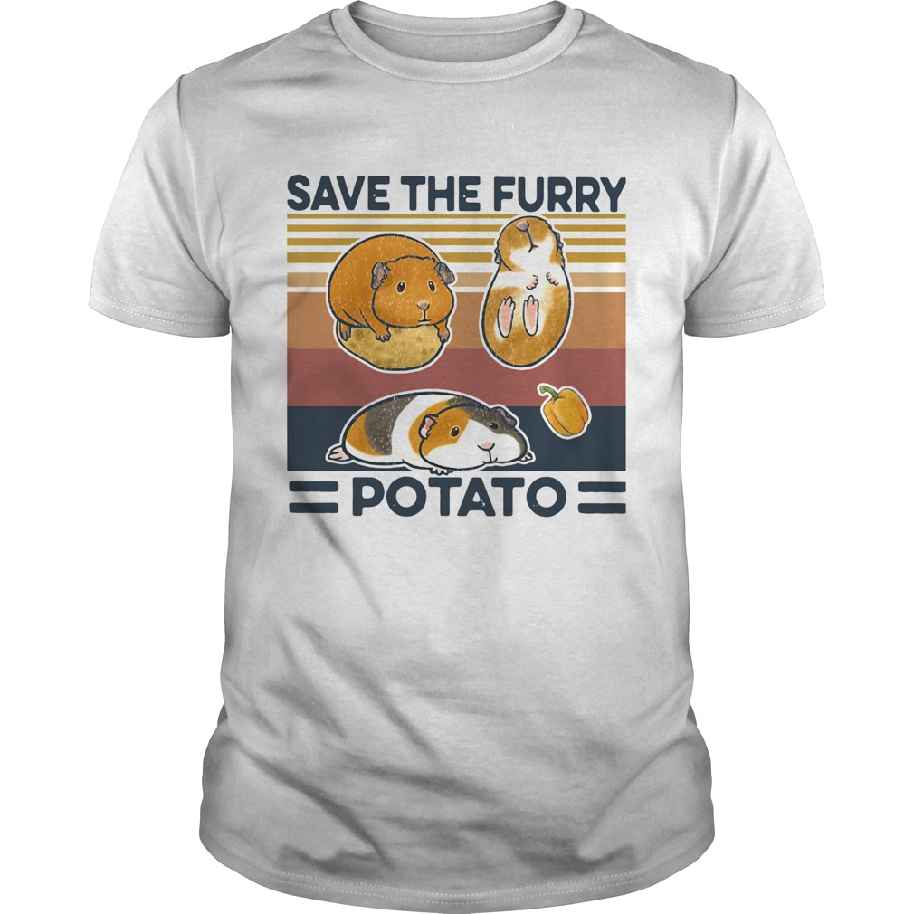 Save The Furry Potato Vintage  Unisex