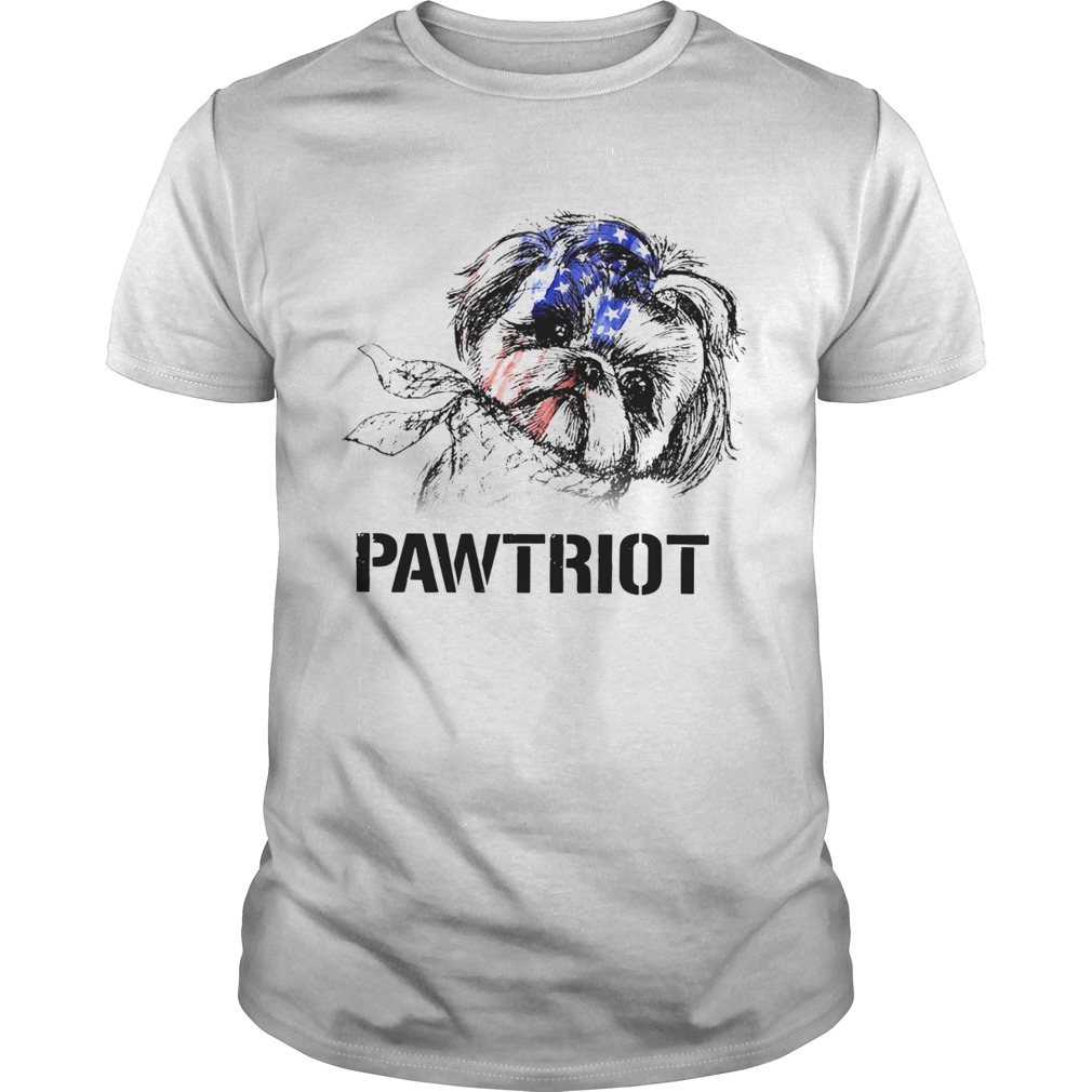 Shih Tzu Pawtriot 4th Of July Independence Day  Unisex