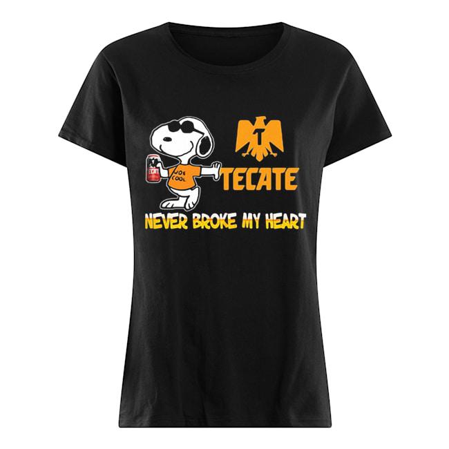 Snoopy tecate beer never broke my heart  Classic Women's T-shirt
