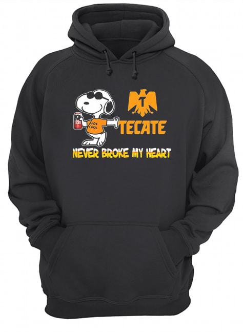 Snoopy tecate beer never broke my heart  Unisex Hoodie