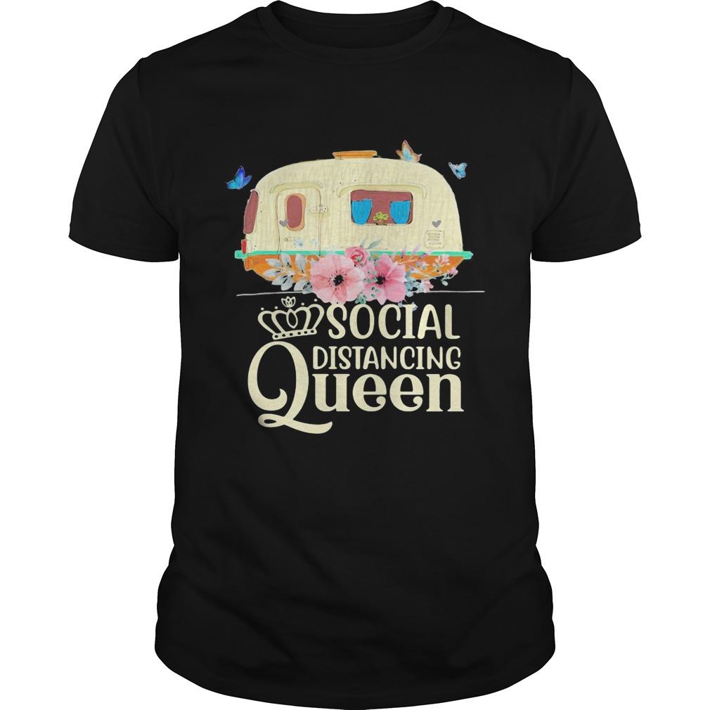 Social distancing queen camping flower  Unisex