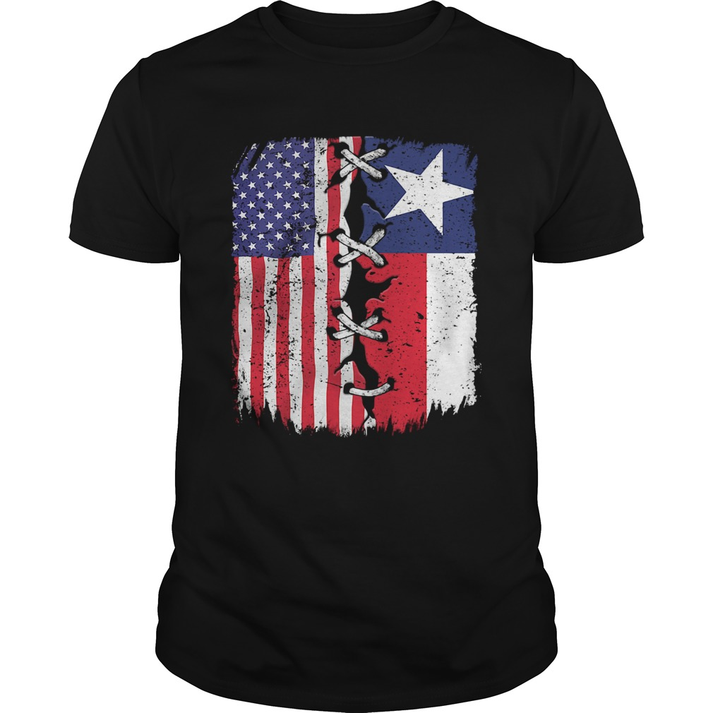 Texas And American Flag Independence Day  Unisex