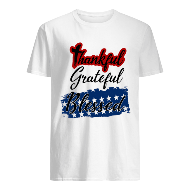 Thankful grateful blessed independence day  Classic Men's T-shirt