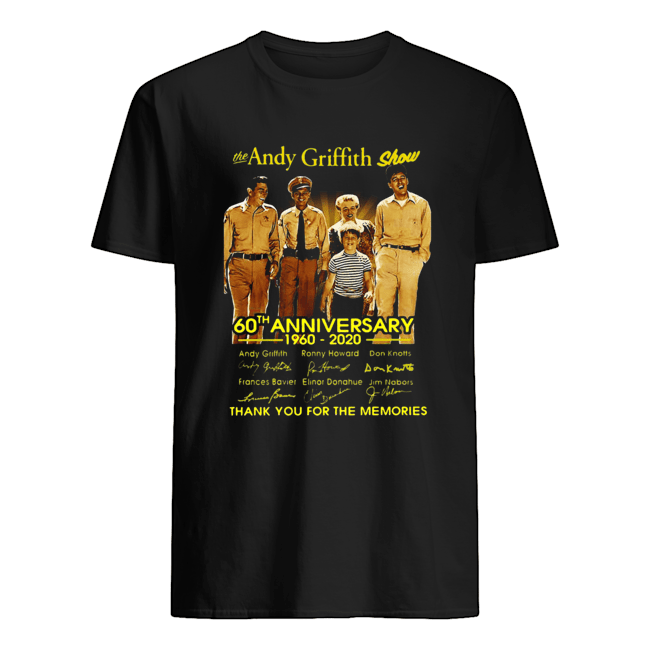 The Andy Griffith Show 60th Anniversary 1960 2020 Thank You For The Memories Signatures  Classic Men's T-shirt