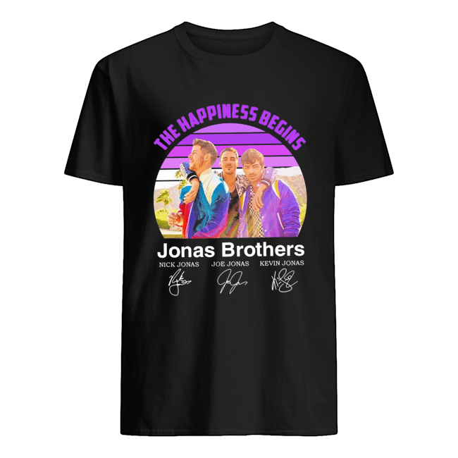 The Happiness Begins Jonas Brothers Signatures  Classic Men's T-shirt