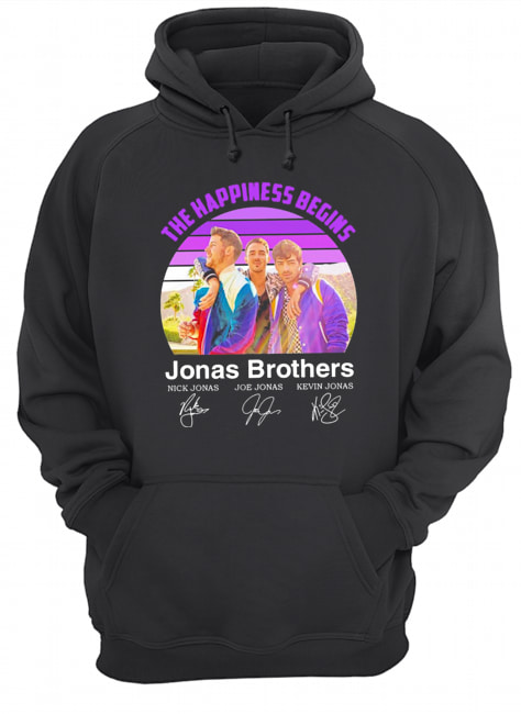 The Happiness Begins Jonas Brothers Signatures  Unisex Hoodie