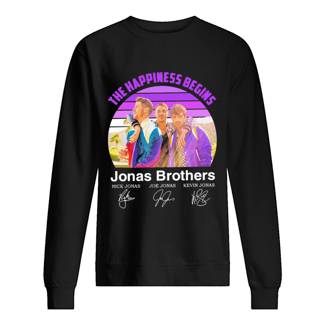 The Happiness Begins Jonas Brothers Signatures  Unisex Sweatshirt