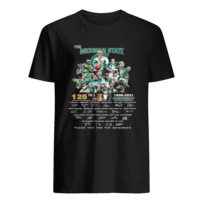 The michigan state spartans 125th anniversary 1896 2021 thank you for the memories signatures  Classic Men's T-shirt