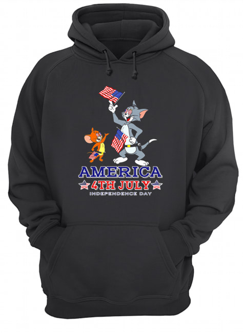 Tom And Jerry America 4th July Independence Day  Unisex Hoodie