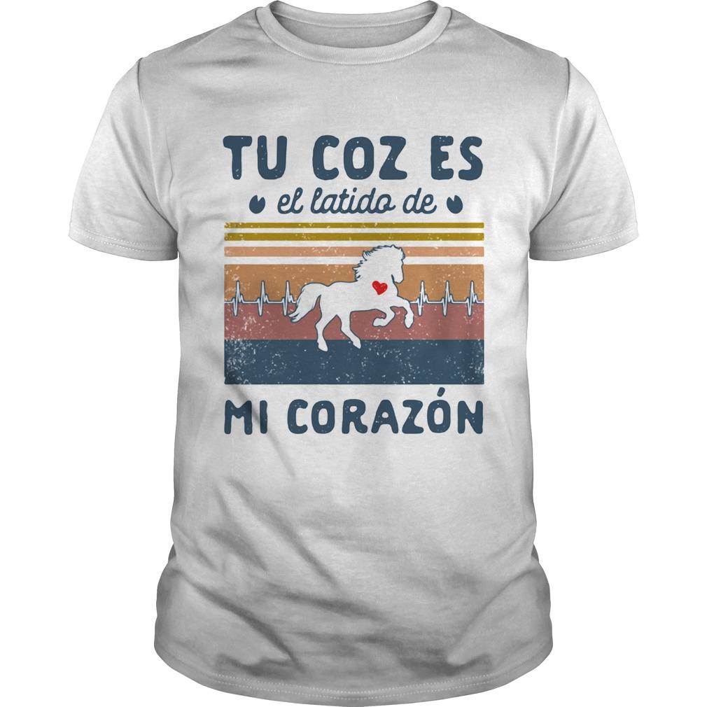 Tu Coz Es El Latido De Mi Corazon Horse Heart Vintage Retro  Unisex