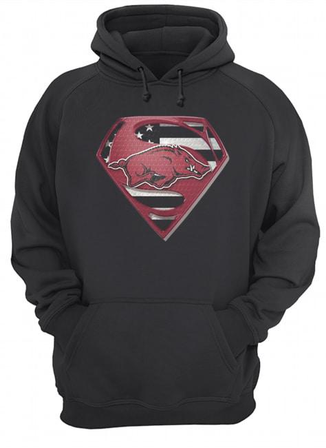 University Of Arkansas Hog Superman  Unisex Hoodie