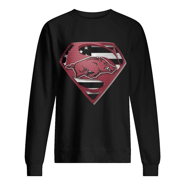 University Of Arkansas Hog Superman  Unisex Sweatshirt