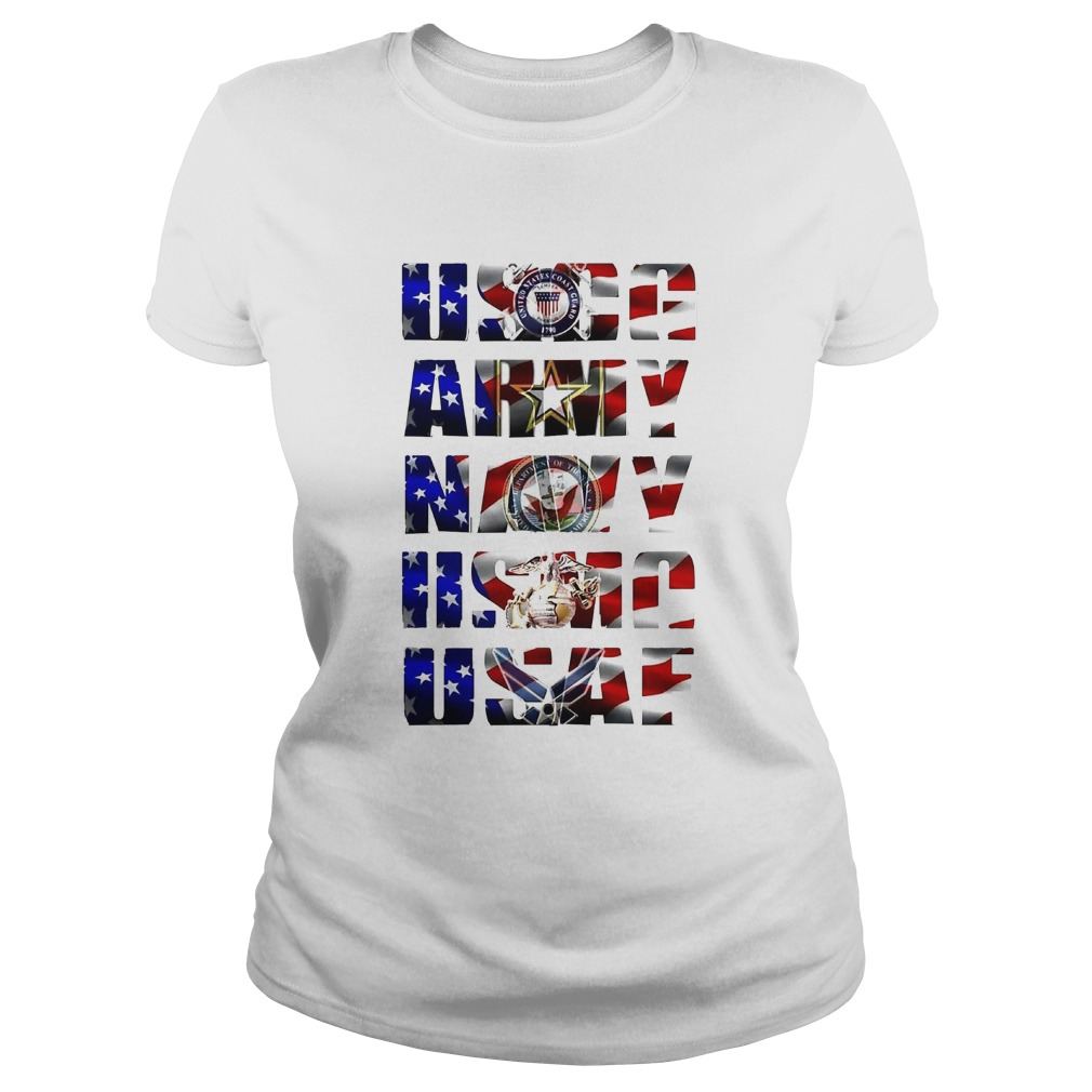 Uscg army navy usaf american flag independence day  Classic Ladies