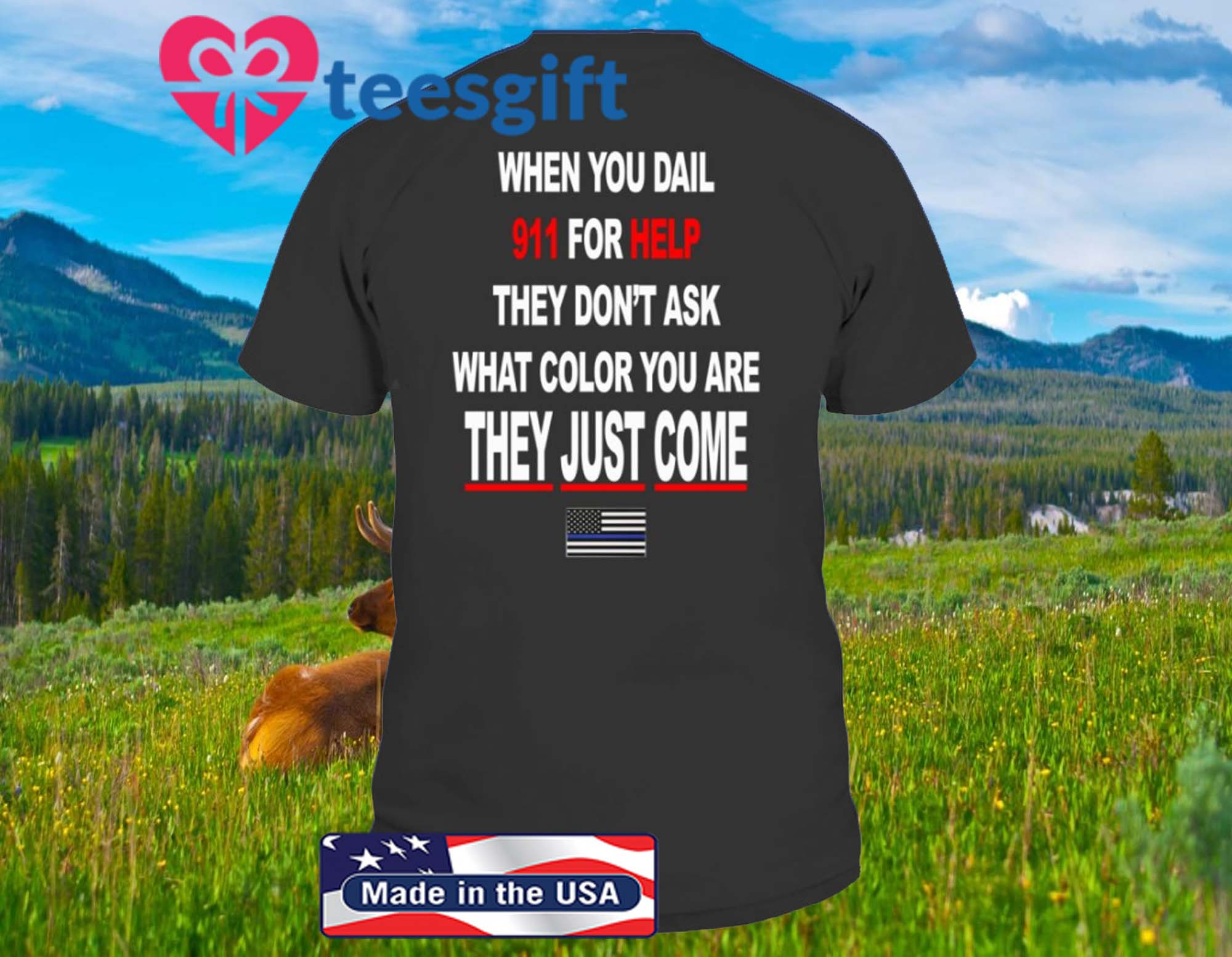 WHEN YOU DIAL 911 FOR HELP – THEY DONT ASK WHAT COLOR YOU ARE – THEY JUST COME SHIRT