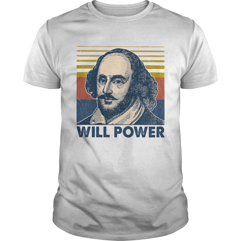 William shakespeare will power vintage retro  Unisex
