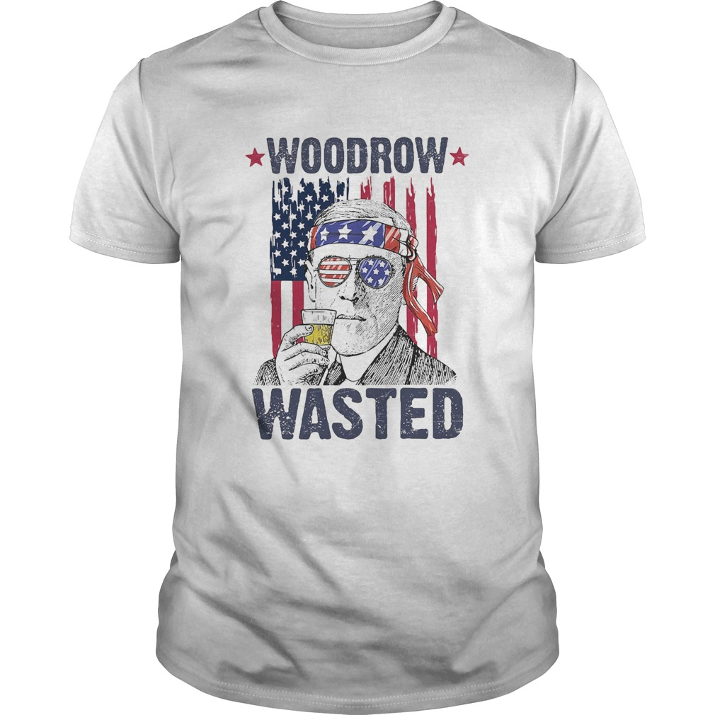 Woodrow wasted wine American flag veteran Independence Day  Unisex