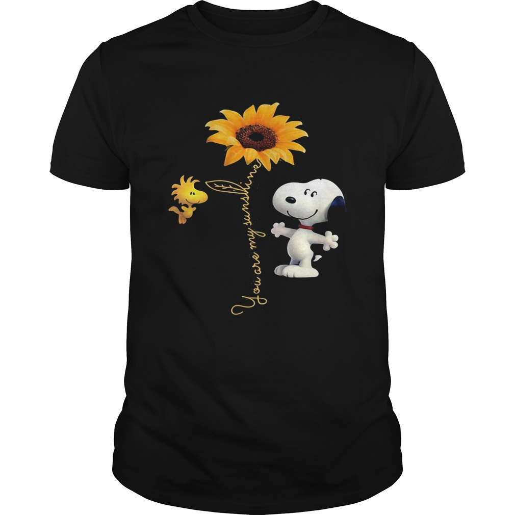 You are my sunshine snoopy and woodstock sunflower  Unisex