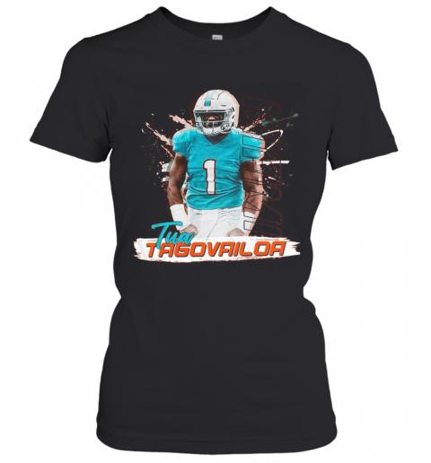 1 Tua Tagovailoa Miami Dolphins Football T-Shirt Classic Women's T-shirt