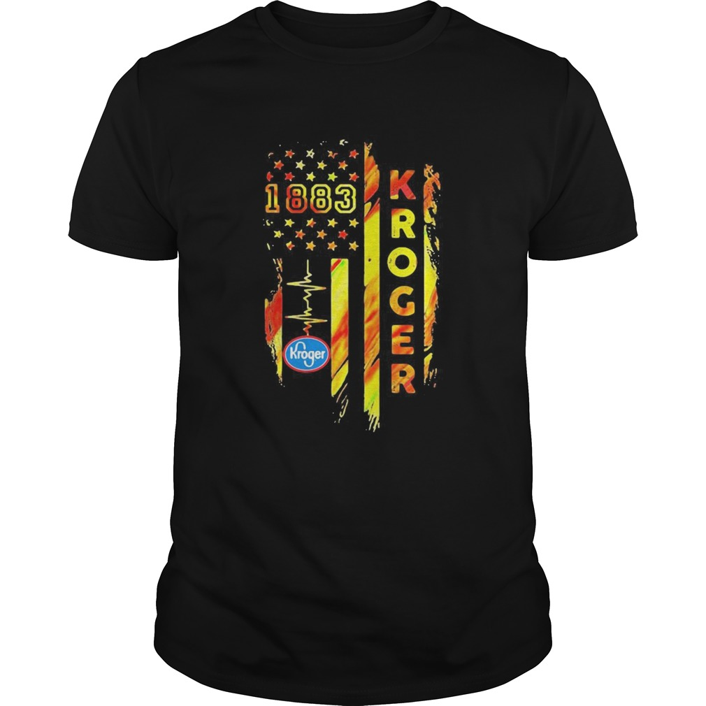 1883 kroger heartbeat american flag independence day  Unisex
