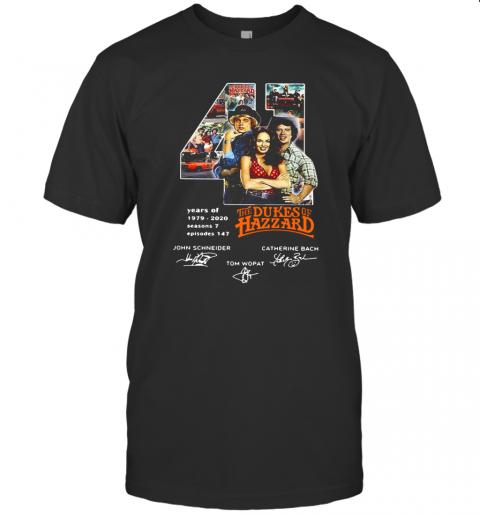 41 Years Of 1979 2020 The Dukes Of Hazzard Signatures T-Shirt Classic Men's T-shirt