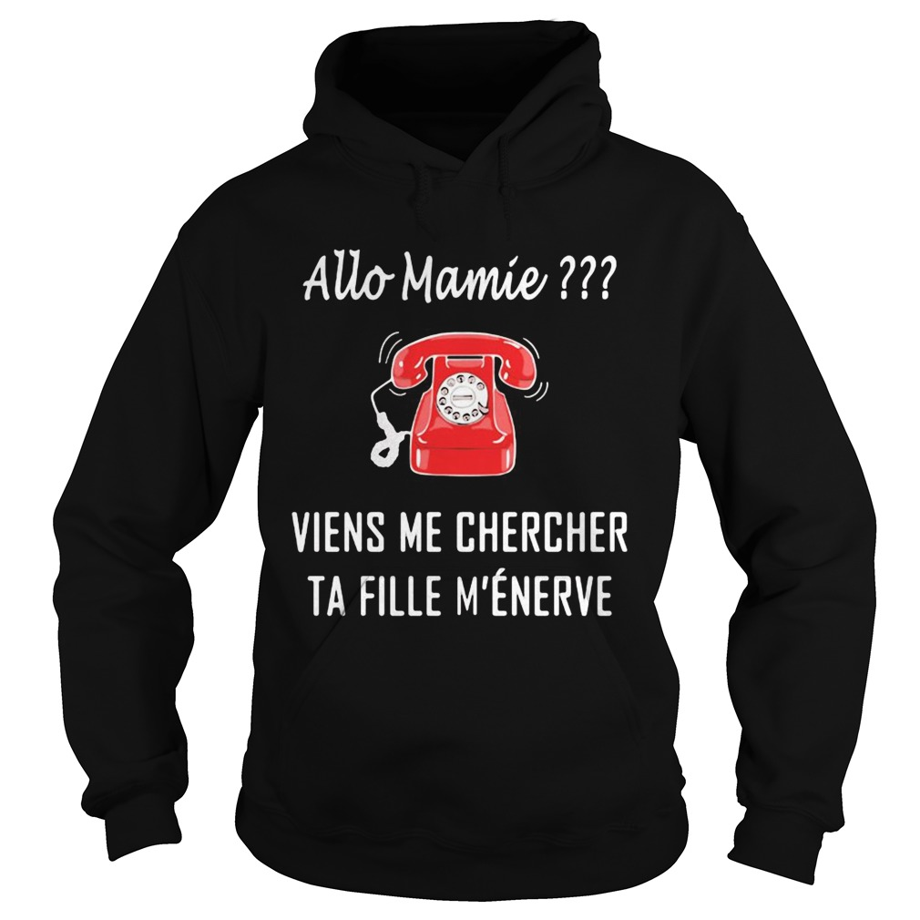 Allo Mamie Viens Me Chercher Ta Fille Menerve Telephone Red  Hoodie
