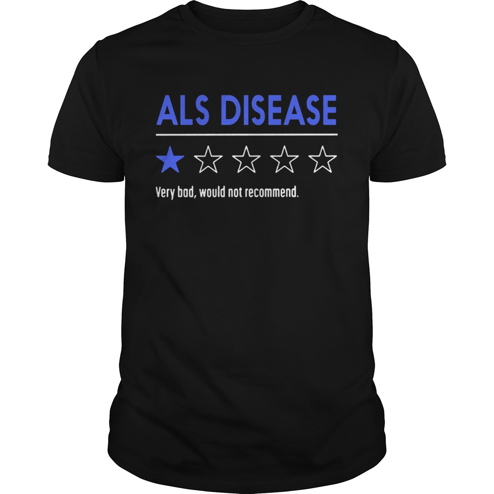 Als disease very bad would not recommend  Unisex