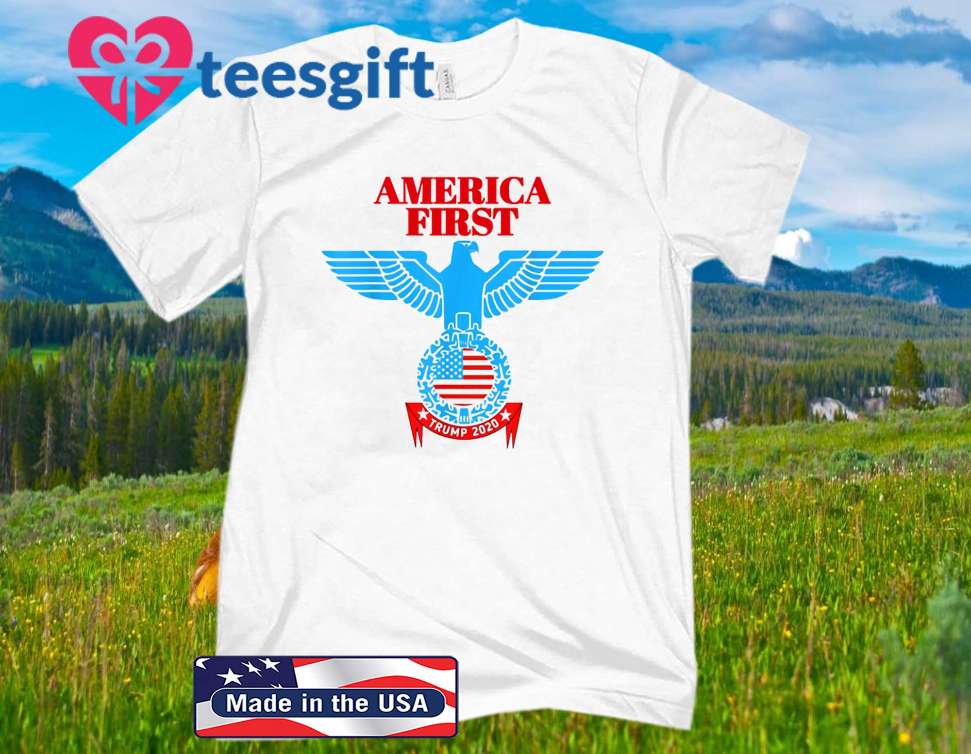 America First Trump 2020 New Official T-Shirt