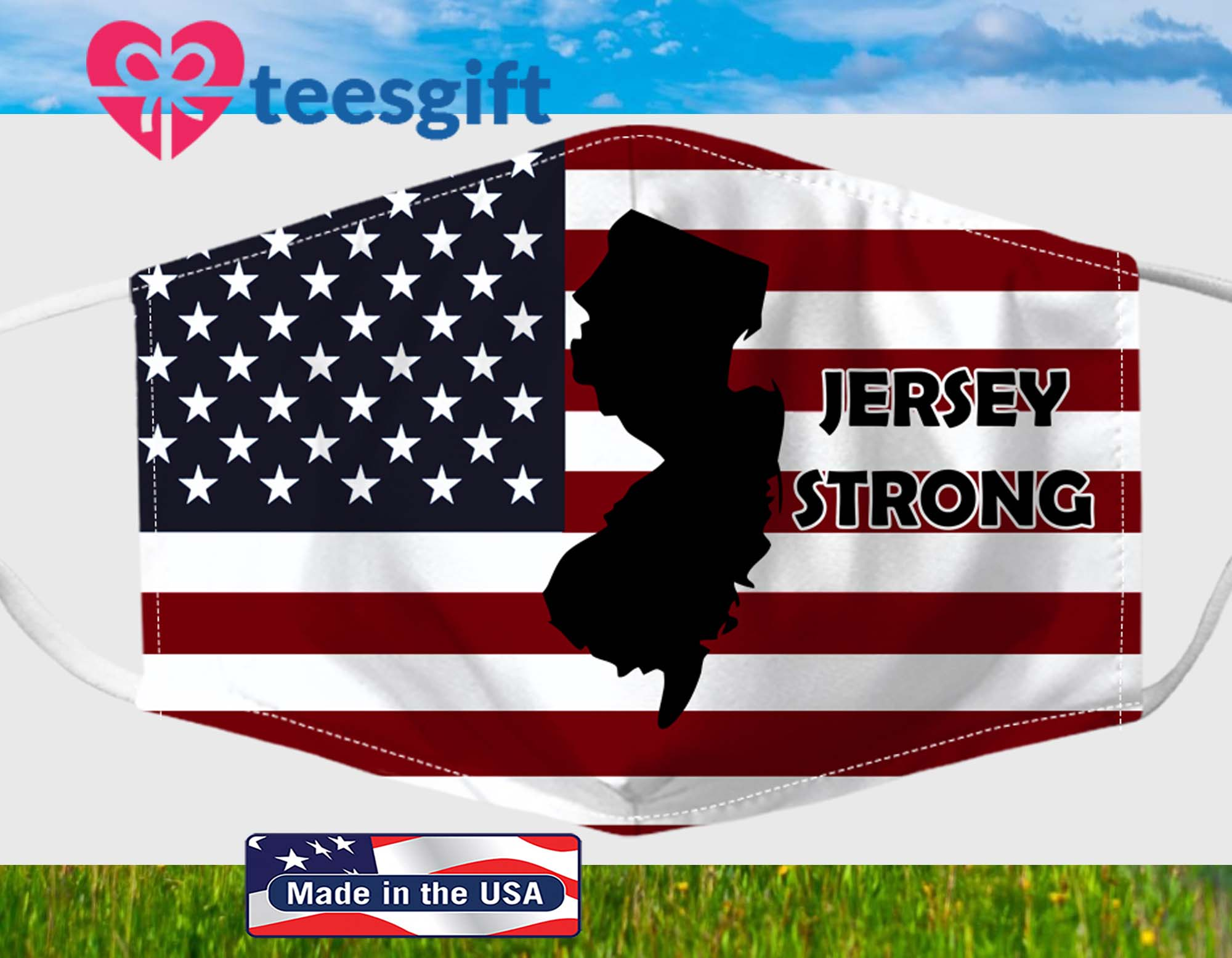 American Flag Jersey Strong Fabric Face Mask PM 2,5