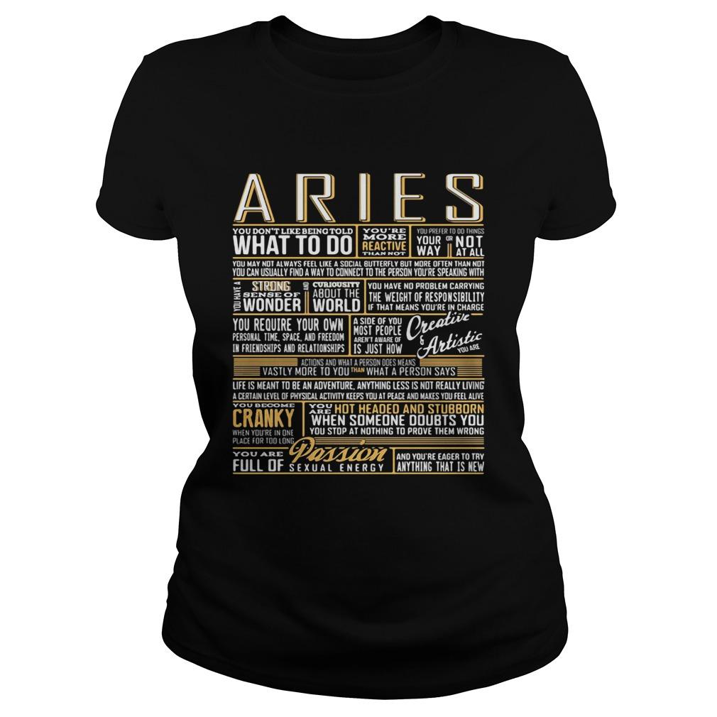 Aries What To Do Wonder World Cranky Paddion  Classic Ladies