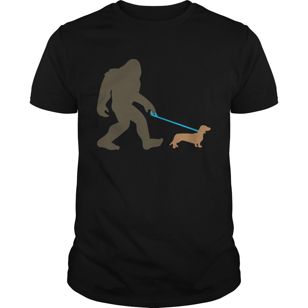 Bigfoot Walking Dachshund Sasquatch Doxie Dog  Unisex