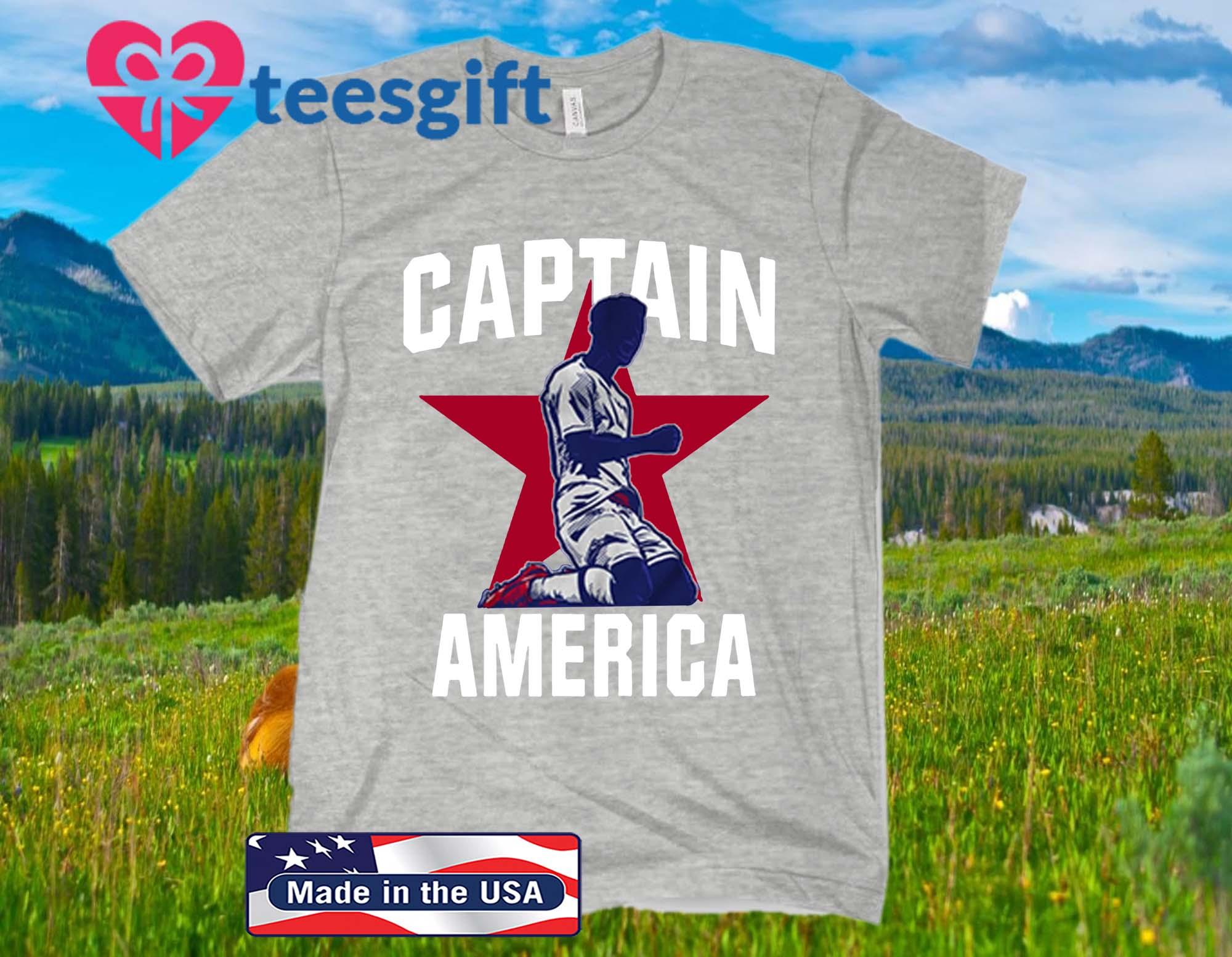 Captain America Official T-Shirt - USA Men's & English Soccer