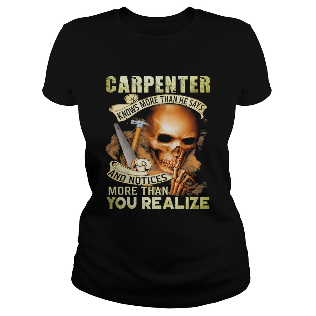 Carpenter Knows More Than He Says And Noties More Than You Realize Hammer Skullcap  Classic Ladies