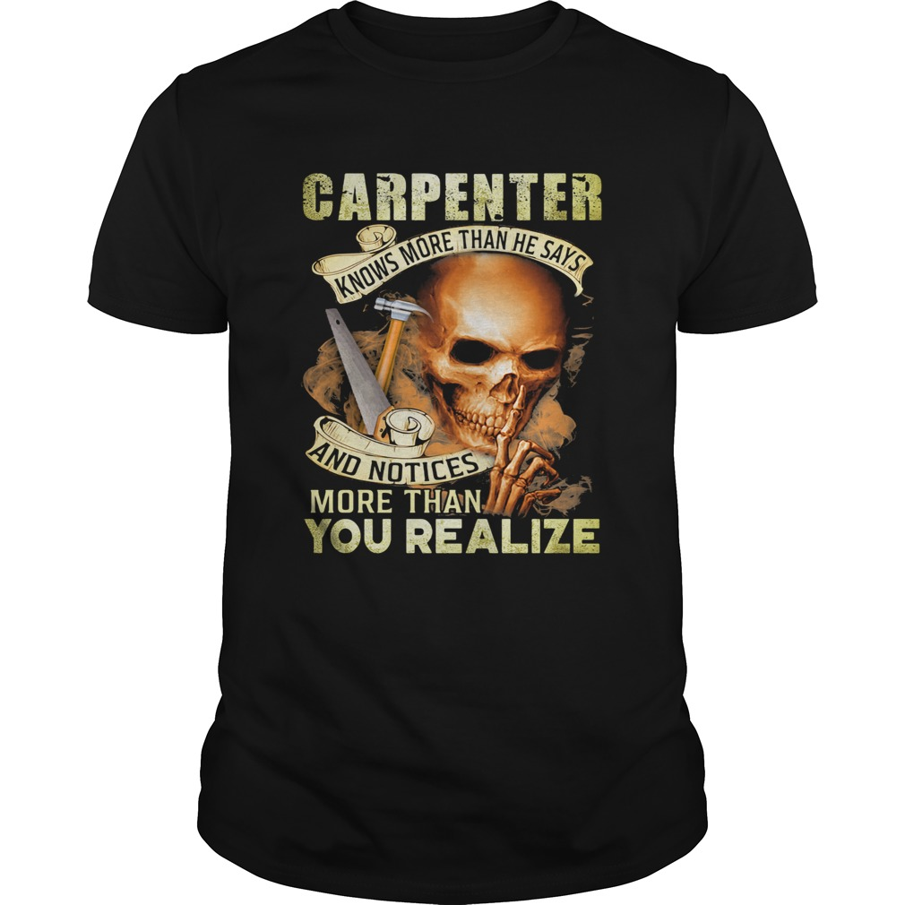 Carpenter Knows More Than He Says And Noties More Than You Realize Hammer Skullcap  Unisex