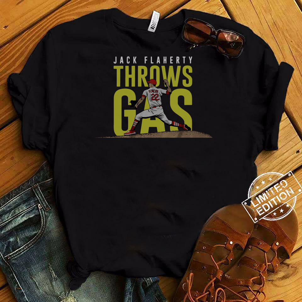 Jack Flaherty Throws Gas Official T-Shirt