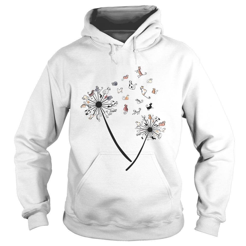 Dandelion Cats White Black Spot  Hoodie