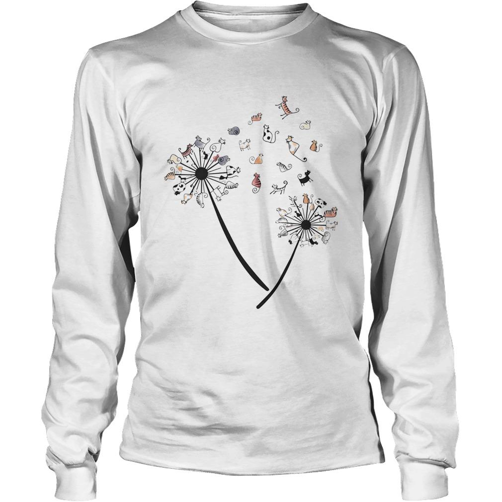 Dandelion Cats White Black Spot  Long Sleeve